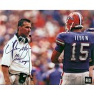 """Urban Meyer Autographed (With Tim Tebow) 8"""" x 10"""" Photograph with """"06 NAT CHAMPS"""" Inscription (Unframed)"""