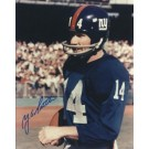 """YA Tittle Autographed New York Giants 8"""" x 10"""" Photograph Hall of Famer (Unframed)"""