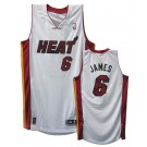 LeBron James Miami Heat #6 Revolution 30 Authentic Adidas NBA Basketball Jersey (Home White)