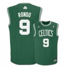 Rajon Rondo Boston Celtics #9 Revolution 30 Replica Adidas NBA Basketball Jersey (Road Green)