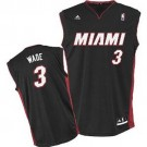 Dwyane Wade Miami Heat #3 Revolution 30 Replica Adidas NBA Basketball Jersey (Road Black)