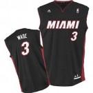 Dwyane Wade Miami Heat #3 Youth Revolution 30 Replica Adidas NBA Basketball Jersey (Road Black)