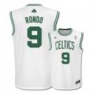 Rajon Rondo Boston Celtics #9 Revolution 30 Replica Adidas NBA Basketball Jersey (Home White)