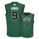 Rajon Rondo Boston Celtics #9 Youth Revolution 30 Replica Adidas NBA Basketball Jersey (Alternate Green)