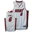LeBron James Miami Heat #6 Revolution 30 Swingman Adidas NBA Basketball Jersey (Home White)