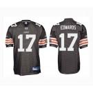 Braylon Edwards Cleveland Browns #17 Authentic Reebok NFL Football Jersey (Brown)