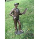 """Sports Coach"" Limited Edition Bronze Garden Statue - Approx. 63"" High by"