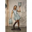 """Go Team (Cheerleader)"" Limited Edition Bronze Garden Statue - Approx. 5' High by"