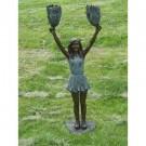 """""""Touchdown! (Cheerleader Celebrating)"""" Limited Edition Bronze Garden Statue -... by"""