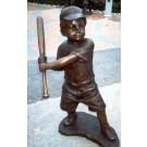 """""""Sandlot (Boy Holding Baseball Bat)"""" Bronze Garden Statue - Approx. 39"""" High"""
