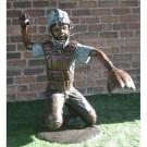 """""""Baseball Catcher"""" Bronze Garden Statue - Approx. 4' High"""