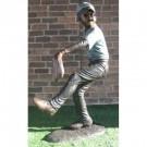 """""""Baseball Pitcher"""" Bronze Garden Statue - Approx. 5' High"""