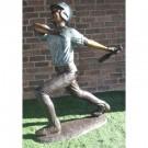 """""""Home Run (Baseball Batter)"""" Bronze Garden Statue - Approx. 5' High"""