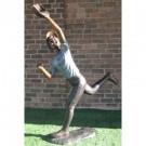 """""""Diving Catch (Baseball Outfielder)"""" Bronze Garden Statue - Approx. 69""""... by"""