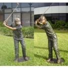 """Golf Pro"" Bronze Garden Statue - 74"" High"