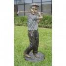 """""""Little Jack Golfing"""" Bronze Garden Statue - Approx. 49"""" High"""