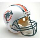 """Miami Dolphins """"Former Logo"""" NFL Riddell Full Size Deluxe Replica Football Helmet"""