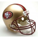 San Francisco 49ers 1996-2008 NFL Riddell Deluxe Replica Throwback Full Size Football Helmet