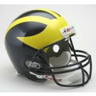 Michigan Wolverines NCAA Riddell Full Size Deluxe Replica Football Helmet