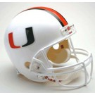 Miami Hurricanes NCAA Riddell Full Size Deluxe Replica Football Helmet