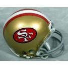 San Francisco 49ers NFL Riddell Replica Mini Throwback Football Helmet  (1964 - 1995)
