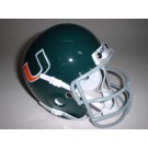 Miami Hurricanes (1973-1975) Mini Throwback Football Helmet from Schutt