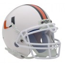 Miami Hurricanes NCAA Mini Authentic Football Helmet From Schutt