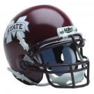 Mississippi State Bulldogs NCAA Mini Authentic Football Helmet From Schutt - Maroon with White Logo (Old Style)