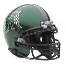 Hawaii Rainbow Warriors NCAA Mini Authentic Football Helmet From Schutt