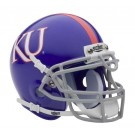 Kansas Jayhawks NCAA Mini Authentic Football Helmet From Schutt