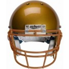 Burnt Orange Reinforced Oral Protection (ROPO) Full Cage Football Helmet Face Guard from Schutt