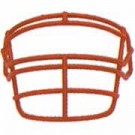 Grey Reinforced Jaw and Oral Protection (RJOP) Full Cage Football Helmet Face Guard from Schutt