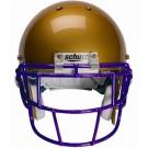 Purple Eyeglass Oral Protection (EGOP) Football Helmet Face Guard from Schutt