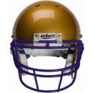 Purple Reinforced Oral Protection (ROPO) Full Cage Football Helmet Face Guard from Schutt