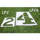 3' Football Stencil Marking Kit - 0 through 5 and G