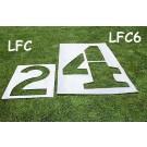 6' Football Stencil Marking Kit - 0 through 5, G and Arrow