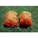 Polyethylene Junior Size Orange Soccer Net - One Pair