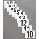 """3 1/2"""" Hip Numbers (Numbers 10 - 18)"""