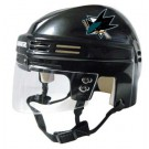 San Jose Sharks NHL Authentic Mini Hockey Helmet from Bauer (Black)