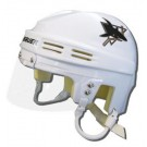 San Jose Sharks Official NHL Mini Player Helmet (White)