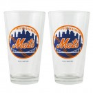 New York Mets Boelter Pint Glasses (Set of 2 Glasses)