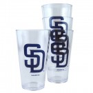 San Diego Padres Boelter Plastic Pint Cups (Set of 4) by