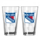 New York Rangers Boelter Pint Glasses (Set of 2 Glasses)