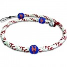 New York Mets Classic Frozen Rope Baseball Wristband / Bracelet