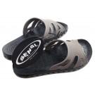 Sensi Regatta Basic UNISEX Sandals - Ash/Black in Size Euro 7 (U.S. Sizing: Women Size 6 / Men Size 5.5)