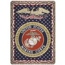 "United States Marines 50"" x 70"" Three Layer Throw Blanket From Simply Home"