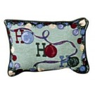 """Ho Ho Ho"" 9"" x 12"" Holiday Tapestry Pillow From Simply Home"