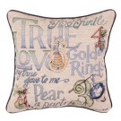 """12 Days Of Christmas"" 17"" x 17"" Holiday Pillow From Simply Home"