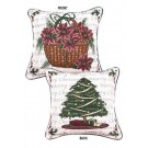 """Traditions of Christmas (Tree / Basket)"" 17"" x 17"" Holiday Pillow From Simply Home"