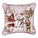 """Santa's Helpers"" 17"" x 17"" Holiday Pillow From Simply Home"